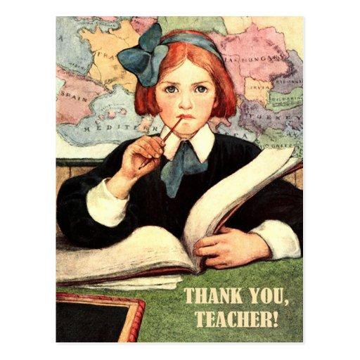 Gracias, profesor. Postales adaptables