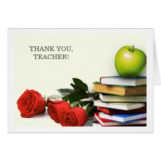 Gracias, profesor. Tarjetas de felicitación de