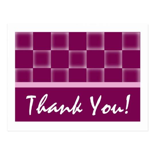 Gracias - púrpura postal