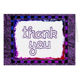 Gracias púrpuras tarjeta pequeña