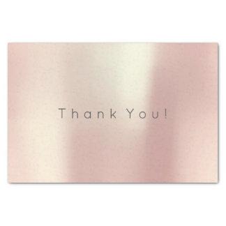 Gracias que se ruboriza el oro color de rosa papel de seda