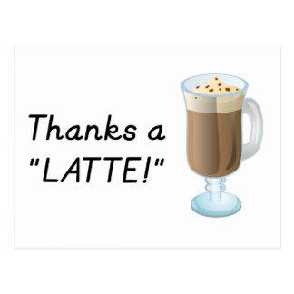 Gracias regalo - gracias un latte postal