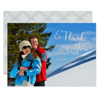 Gracias Script la foto - gracias Invitación 12,7 X 17,8 Cm