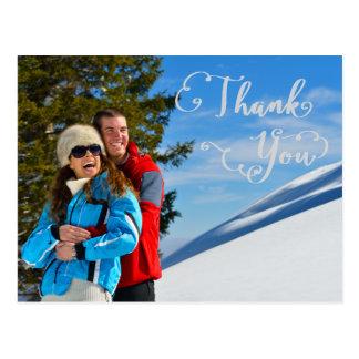 Gracias Script la foto - gracias postal