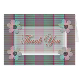 Gracias simplemente tarjeta de felicitación