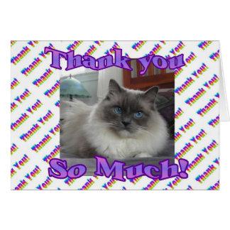 Gracias tanto tarjeta de felicitación
