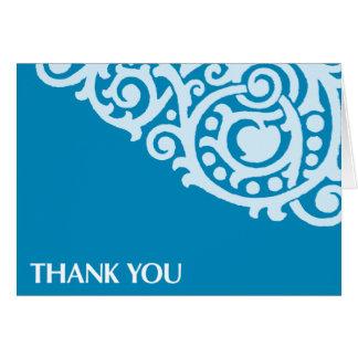 Gracias Tarjeta-Azul Tarjeta De Felicitación