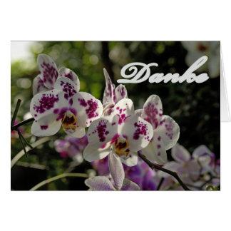 Gracias tarjeta con orquídeas