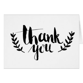 """""""Gracias"""" tarjeta de felicitación"""