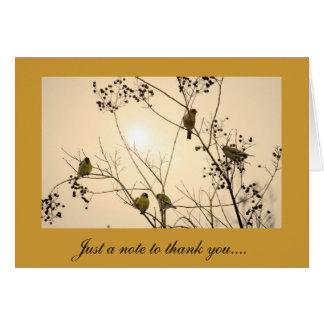 Gracias tarjeta de felicitación con diseño del