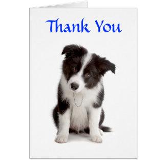 Gracias tarjeta de felicitación del perrito del