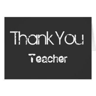 Gracias tarjeta de felicitación del profesor