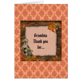 Gracias tarjeta de la abuela