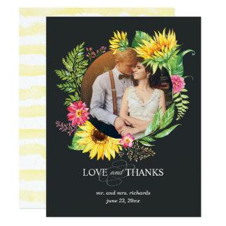 Gracias tarjeta de la foto con el marco del