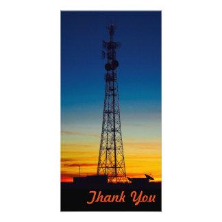 Gracias tarjeta de la foto - puesta del sol de la