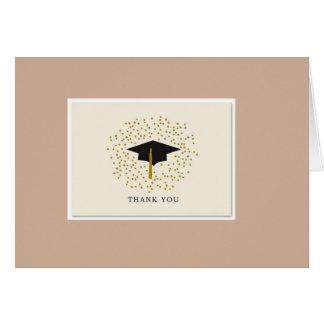 Gracias tarjeta de la graduación