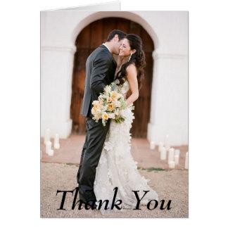 Gracias tarjeta de nota del boda de la foto