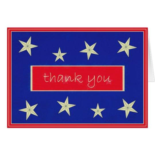 Gracias tarjeta de nota del día de veteranos