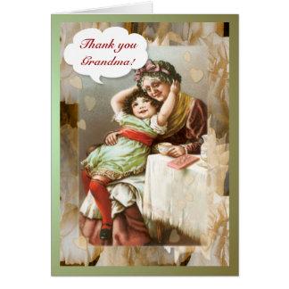 Gracias tarjeta del ~ de la abuela