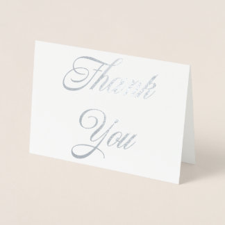Gracias tarjeta del efecto metalizado
