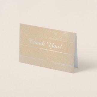 Gracias tarjeta del efecto metalizado, mini