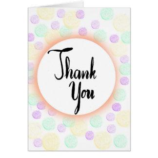 Gracias tarjeta en colores pastel