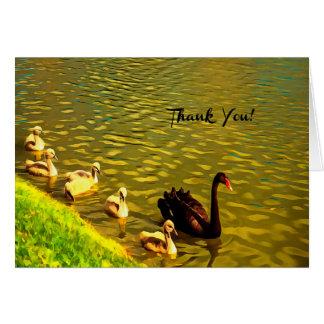 Gracias tarjeta feliz de la familia del ganso