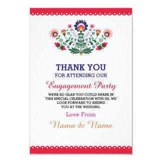 Gracias tarjeta mexicana roja de la fiesta del