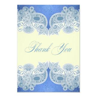 Gracias tarjeta plana del Victorian del boda Invitación 12,7 X 17,8 Cm