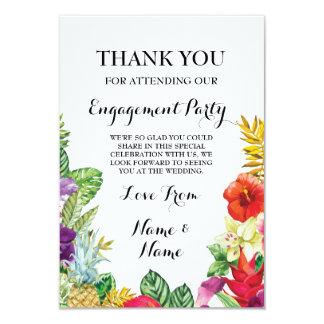 Gracias tarjeta rústica de Luau de la hawaiana de Invitación 8,9 X 12,7 Cm