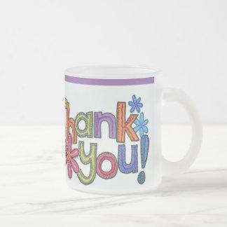 Gracias Taza De Cristal Esmerilado