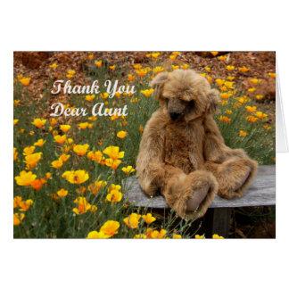 Gracias tía tarjeta de felicitación