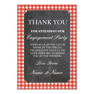 Gracias tiza roja del boda del control de las invitación 8,9 x 12,7 cm