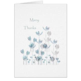 Gracias. troncos tarjeta de felicitación