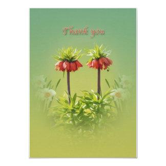 Gracias, tulipanes rojos de Rubra Invitación 11,4 X 15,8 Cm