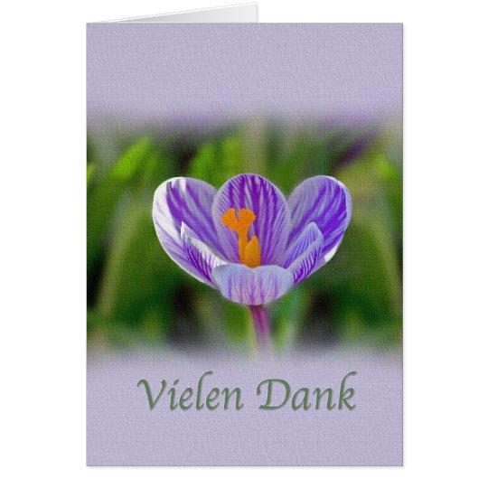 Gracias, Vielen húmedo, alemán, flores Tarjeta De Felicitación