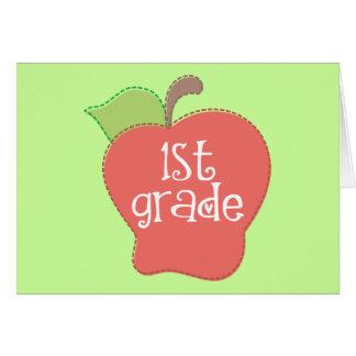 Grado de Apple de la puntada 1r Tarjeta De Felicitación