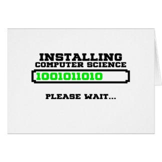 grado de informática tarjeta de felicitación