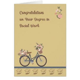 Grado de la tarjeta de la enhorabuena en trabajo