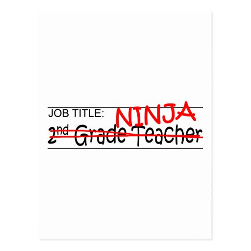 Grado de Ninja del cargo 2do Tarjetas Postales