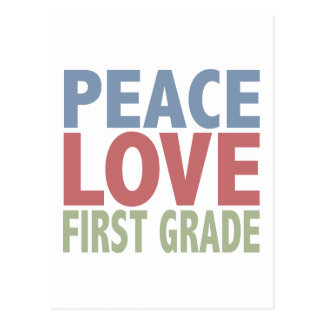Grado del amor de la paz primer postal