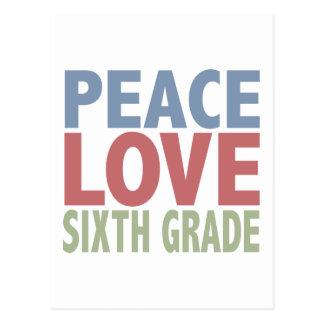 Grado del amor de la paz sexto tarjetas postales