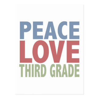 Grado del amor de la paz tercer postal