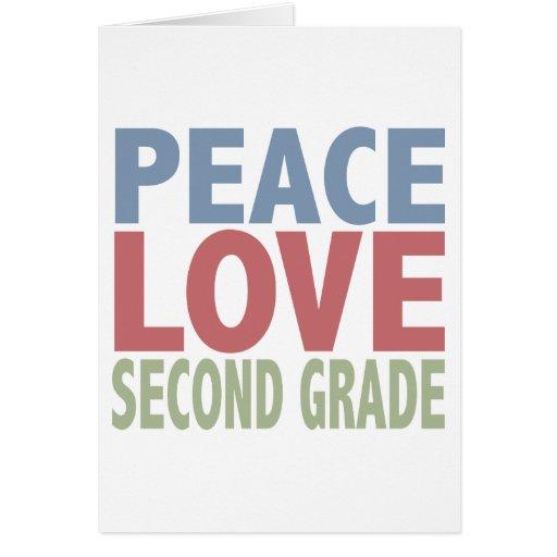 Grado del amor segundo de la paz tarjetón
