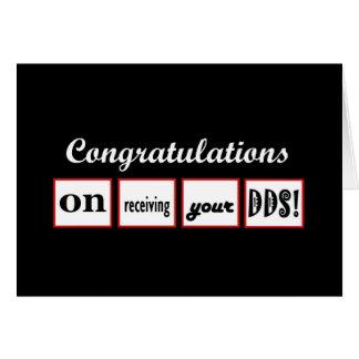 Grado del DDS - enhorabuena CONOCIDA DE ENCARGO - Tarjeta De Felicitación