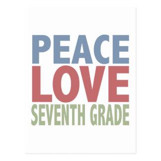 Grado del séptimo del amor de la paz postal