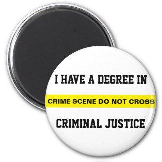 Grado en justicia penal imán redondo 5 cm