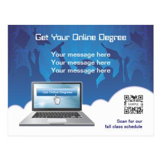 Grado en línea de la plantilla de la postal