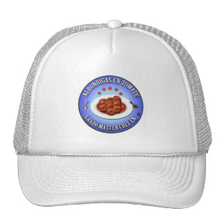 Grado master chef en albondigas en tomate gorras