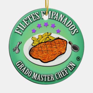 Grado Master Chef en Filetes Empanados Adorno Redondo De Cerámica